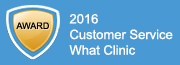 Whatclinic review badge